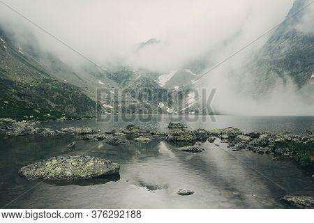 Mountain Lake Hincovo Pleso In High Tatras.