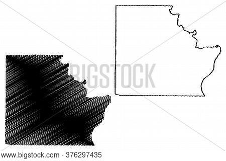 Brown County, Illinois (u.s. County, United States Of America, Usa, U.s., Us) Map Vector Illustratio