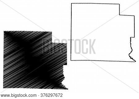 Clay County, Illinois (u.s. County, United States Of America, Usa, U.s., Us) Map Vector Illustration