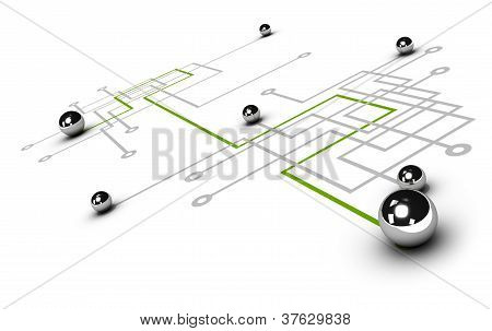 network, networking concept