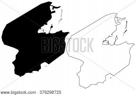 Saint-pierre City (overseas Collectivity Of Saint Pierre And Miquelon Island, France) Map Vector Ill