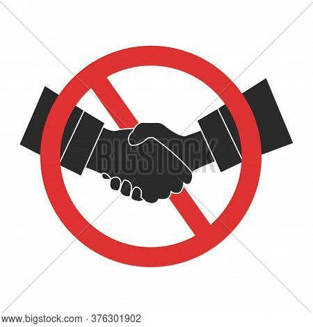 Handshake Ban Icon. Handshake Forbidden Vector Isolated Sign