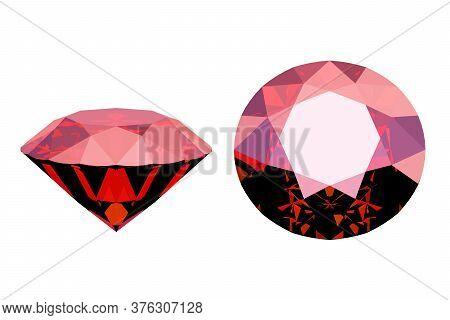 Ruby Stone, Precious Red Diamond, 3d Render