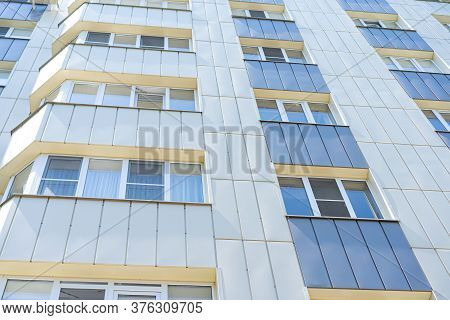 Apartment Block New Built Residential Building.apartment Block New Built Residential Building
