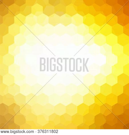 Vector Background With Yellow, White Hexagons. Can Be Used In Cover Design, Book Design, Website Bac