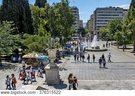 View Of The Square And The Syntagma Fountain