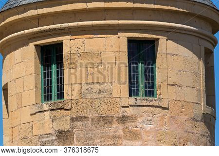 Segovia, Spain - April 24, 2019: Details of the famous Alcazar castle of Segovia, Castilla y Leon, Spain