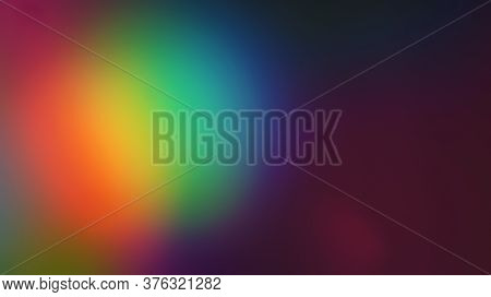 Rainbow Multciolor Optical Flare Abstract Bokeh And Light Leaks Photo Overlays With Camera Lens Film
