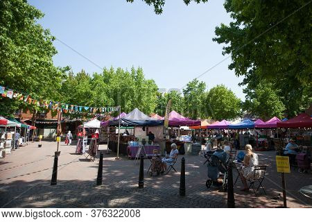 The Gloucester Green Market In Oxford In The Uk, Taken On The 26th June 2020.