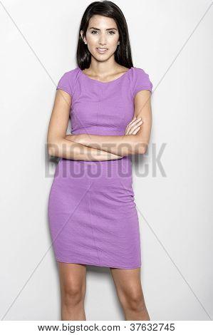 Woman In Purple Dress