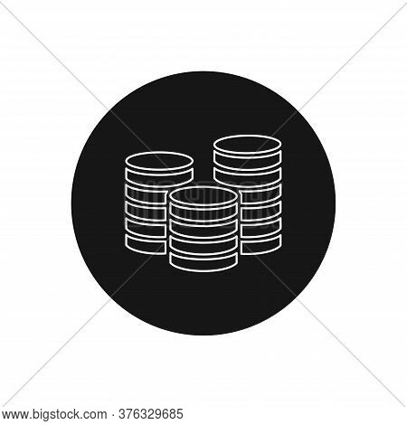 Coins Icon Isolated On White Background. Coins Icon In Trendy Design Style For Web Site And Mobile A