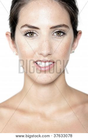 Woman In Health And Beauty Pose