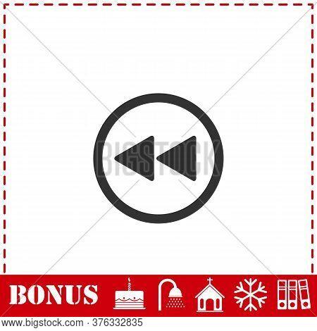 Rewind Icon Flat. Simple Vector Symbol And Bonus Icon