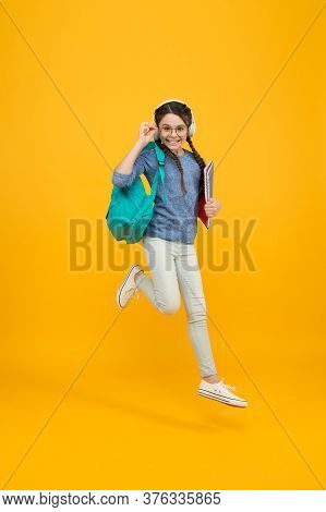 Active Learning. Active Girl Run To School. Happy Kid Back To School. Active Childhood. School Time.