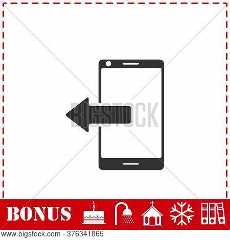 Outcoming Calls Icon Flat. Simple Vector Symbol And Bonus Icon