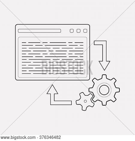 Back-end Development Icon Line Element. Vector Illustration Of Back-end Development Icon Line Isolat