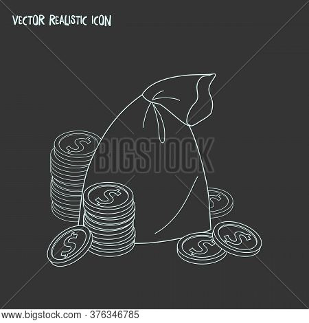 Money Sack Icon Line Element. Vector Illustration Of Money Sack Icon Line Isolated On Clean Backgrou