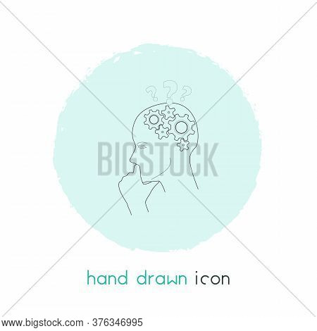 Critical Thinking Icon Line Element. Vector Illustration Of Critical Thinking Icon Line Isolated On