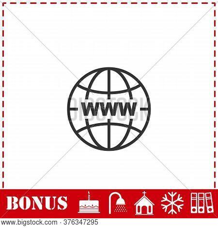 World Wide Web Icon Flat. Simple Vector Symbol And Bonus Icon