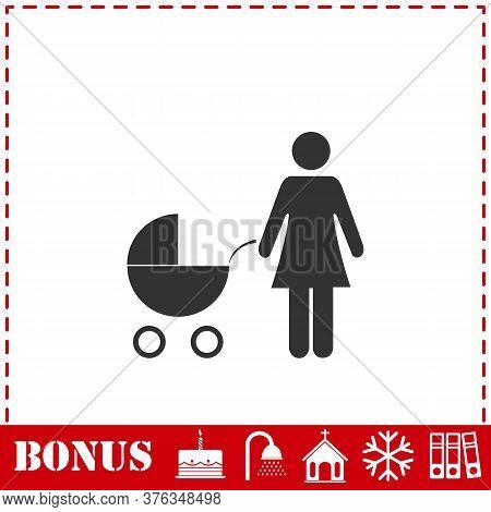 Maternity Icon Flat. Simple Vector Symbol And Bonus Icon