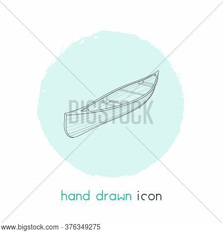 Canoe Icon Line Element. Illustration Of Canoe Icon Line Isolated On Clean Background For Your Web M
