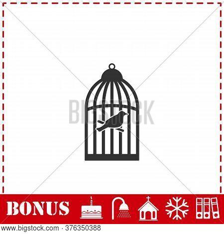 Birdcage Icon Flat. Simple Vector Symbol And Bonus Icon