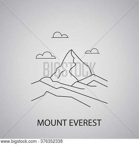 Mount Everest In Nepal, Himalayas. Tourist Places And Landmarks.