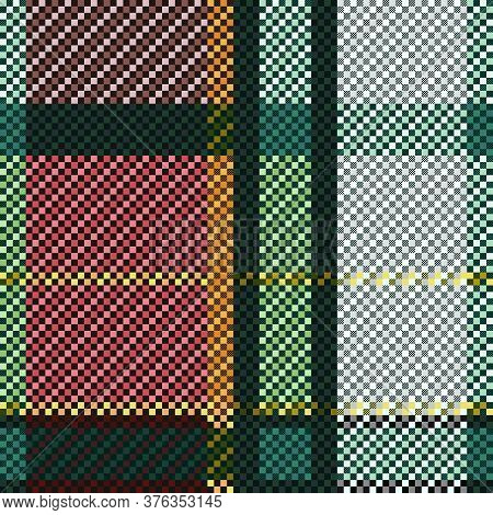 Tartan Scottish Seamless Pattern In Various Colors, Texture For Flannel Shirt, Plaid, Tablecloths, C