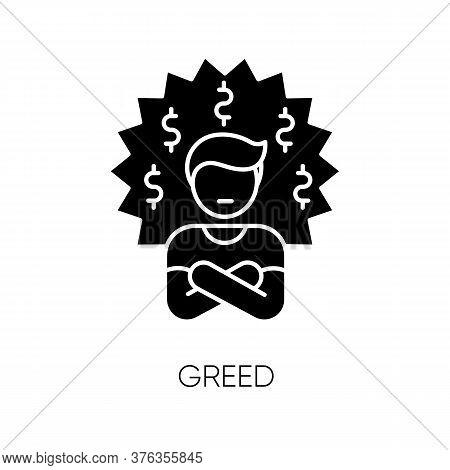Greed Black Glyph Icon