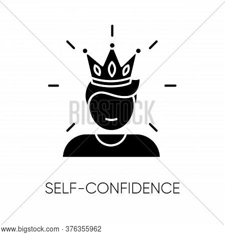 Self Confidence Black Glyph Icon