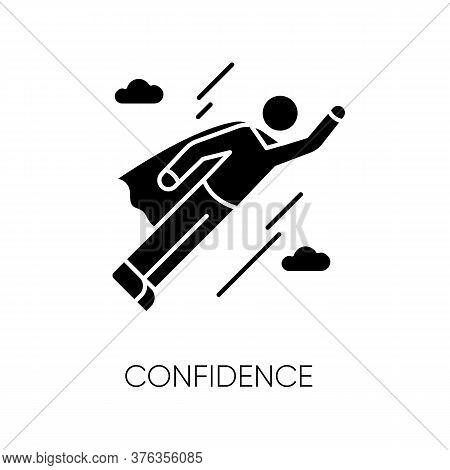 Confidence Black Glyph Icon