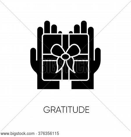 Gratitude Black Glyph Icon