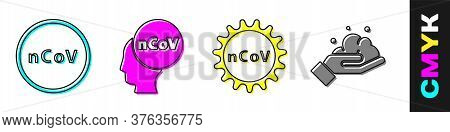 Set Corona Virus 2019-ncov, Corona Virus 2019-ncov, Corona Virus 2019-ncov And Washing Hands With So