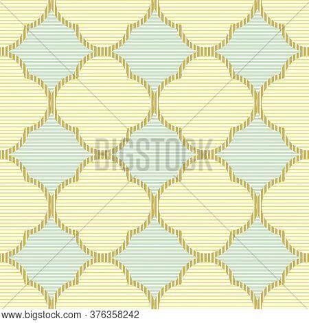 Pastel Textured Quatrefoil Seamless Vector Pattern. Surface Print Design For Fabrics, Stationery, Ba