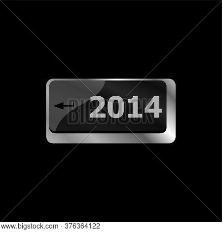 2014 New Year Black Keyboard Key Button Close-up