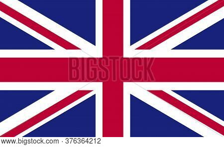 United Kingdom National Flag In Exact Proportions - Vector