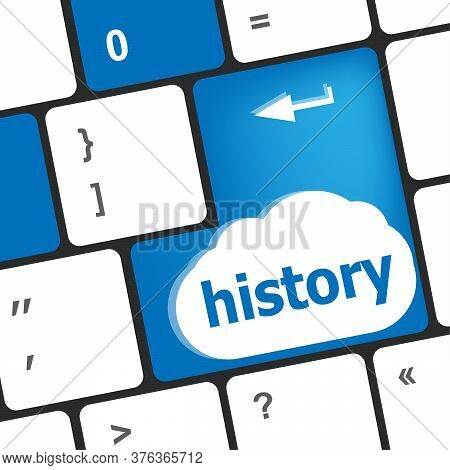 Text History. Pc Keyboard With Text History