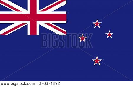 New Zealand National Flag In Exact Proportions - Vector