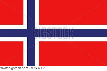 Norway National Flag In Exact Proportions - Vector