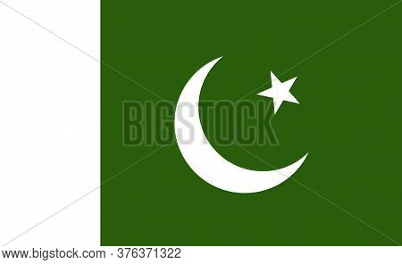 Pakistan National Flag In Exact Proportions - Vector
