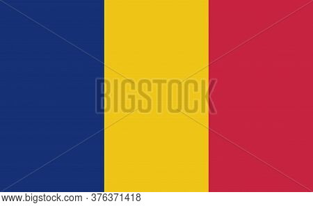 Romania National Flag In Exact Proportions - Vector