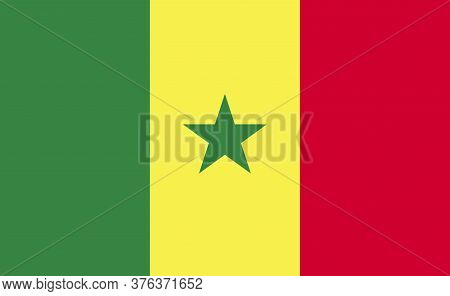 Senegal National Flag In Exact Proportions - Vector
