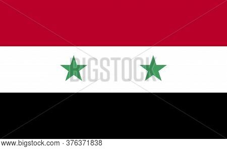 Syria National Flag In Exact Proportions - Vector