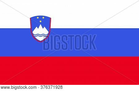 Slovenian National Flag In Exact Proportions - Vector