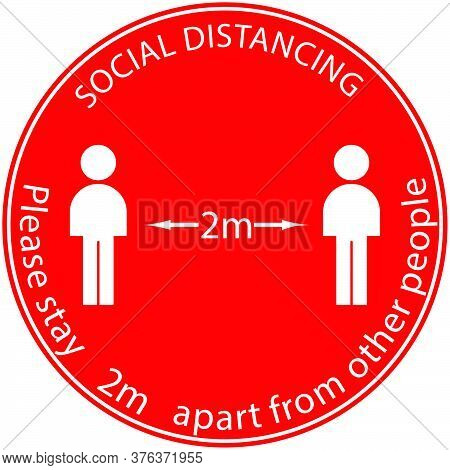 Icon People Concept Social Distancing Stay 2m Apart From Other People, The Practices Put In Place To