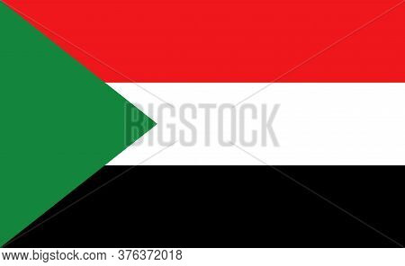 Sudan National Flag In Exact Proportions - Vector