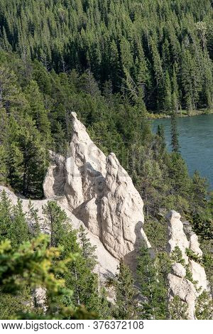 A Picture Of Hoodoo.    Banff National Park  Ab Canada