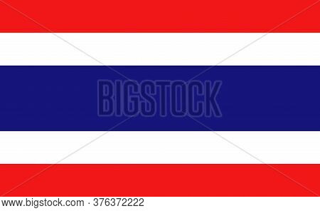 Thailand National Flag In Exact Proportions - Vector