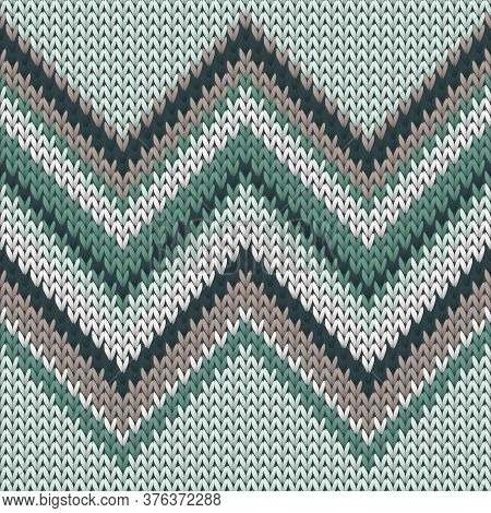 Clothing Zig Zal Lines Christmas Knit Geometric Seamless Pattern. Ugly Sweater Knit Tricot  Fabric P