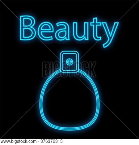 Aromatic Spray For The Skin. Perfumes For Men And Women. Perfumery Products, Icon, Neon Sign For A P